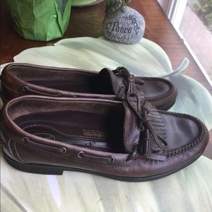ROCKPORT MENS BROWN LEATHER LOAFERS SIZE 10M